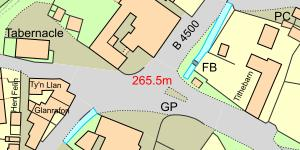 Map Llanarmon DC