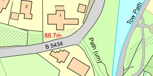 Map Traphont Ddŵr Pontcysyllte