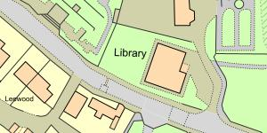 Map of Cefn Mawr Library