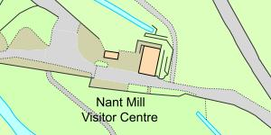 Map of Location of Nant Mill Country Park