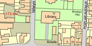 Map of Rhos Library