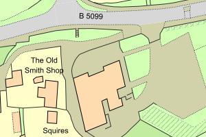 Map of Location of Bersham Heritage Centre, Wrexham