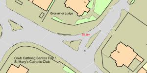 Map Ffordd Grosvenor