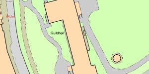 Map of Location of The Guildhall, Wrexham