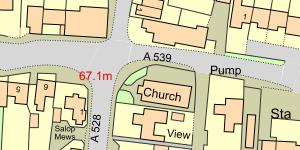 Map of Location of St Mary The Virgin Church, Overton